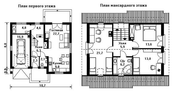 Дом своими руками из пеноблоков план 52