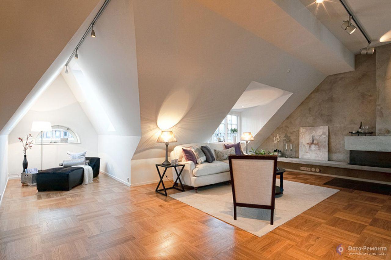 Примеры дизайна мансардных квартир