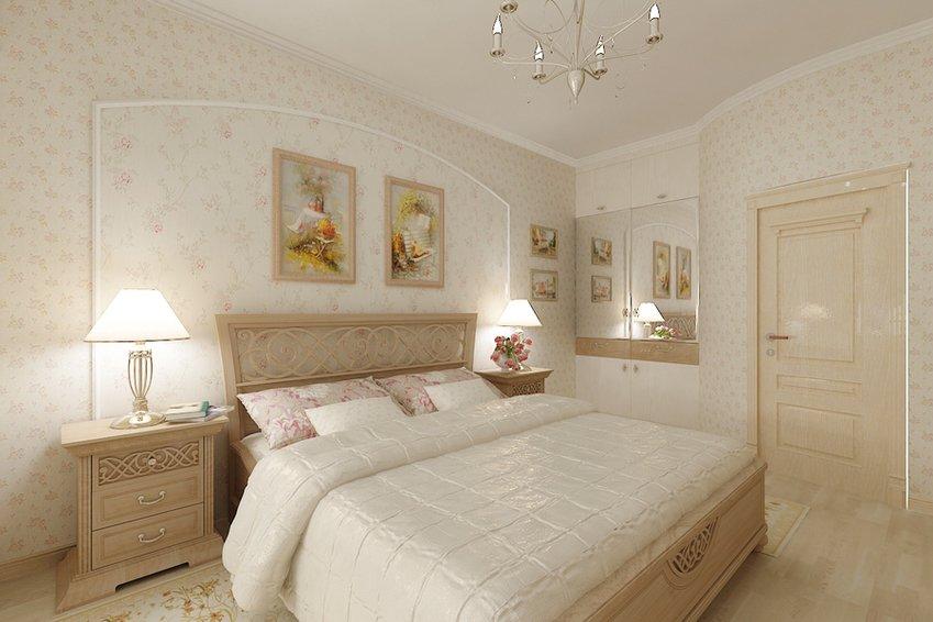 Фото дизайна светлой спальной комнаты