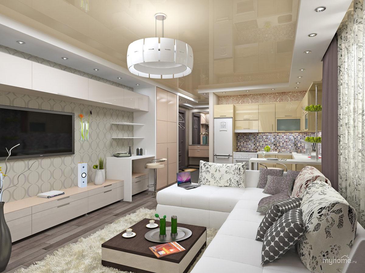 Дизайн квартиры студии маленькая