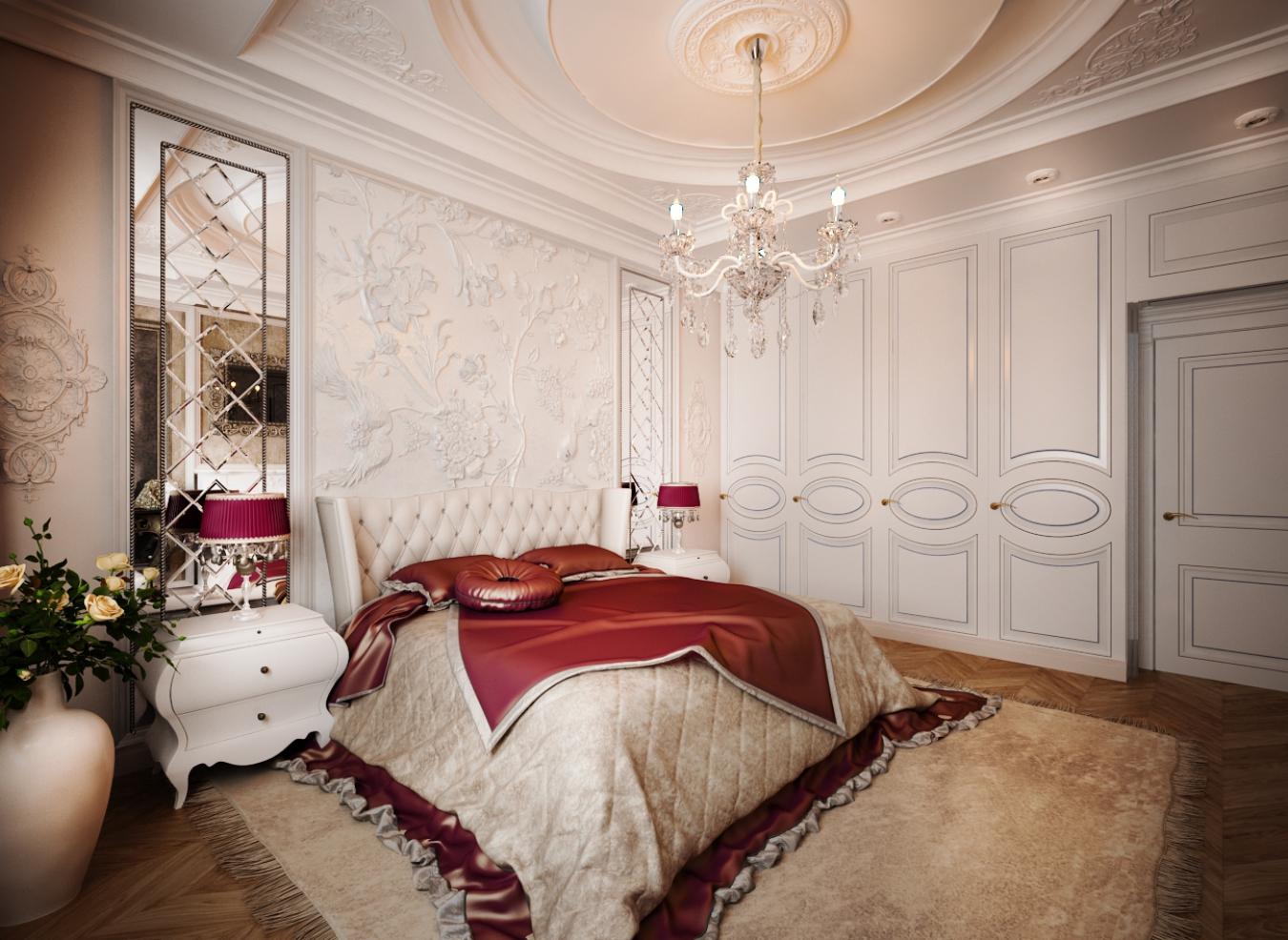 Фото дизайн интерьера спальни классика
