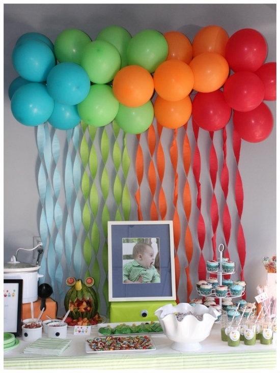 Как украсить квартиру своими руками на день рождения ребенка 1 год