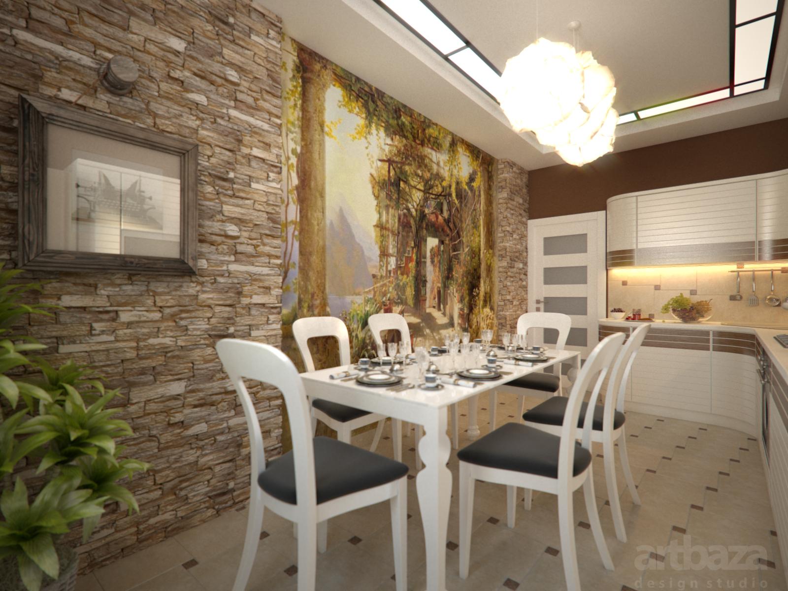Стены дизайн кухня