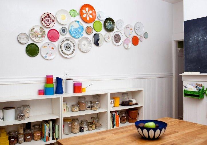 Как украсить стены кухни
