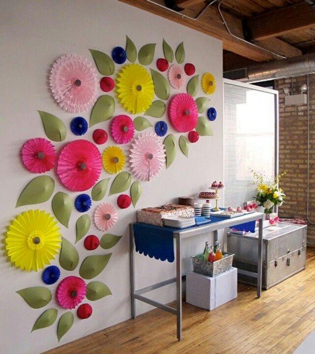 Цветок на стене своими руками