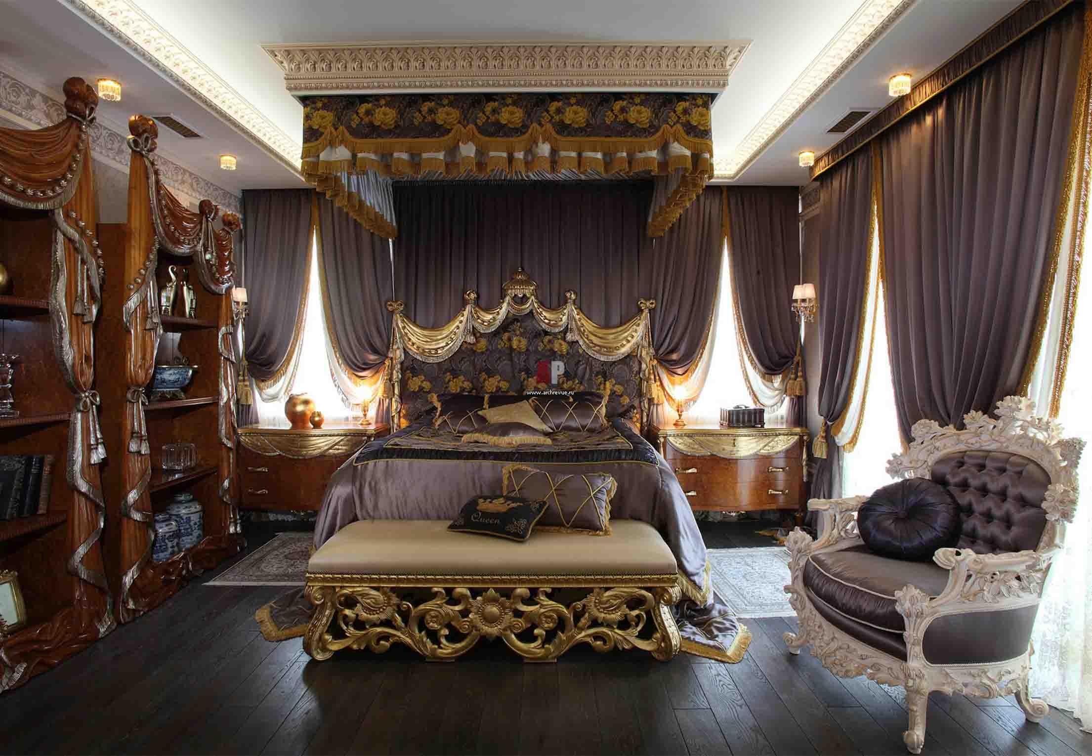 Спальня дизайн в стиле барокко