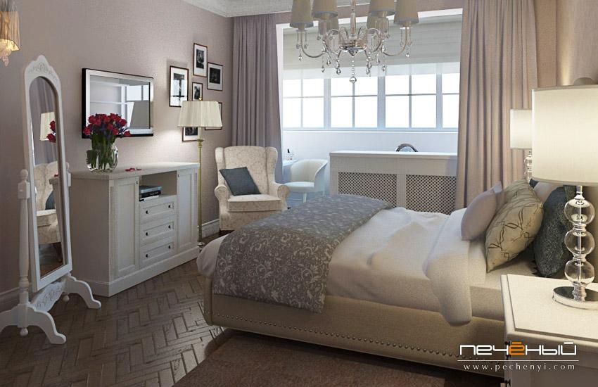 дизайн комнаты с балконом для пары