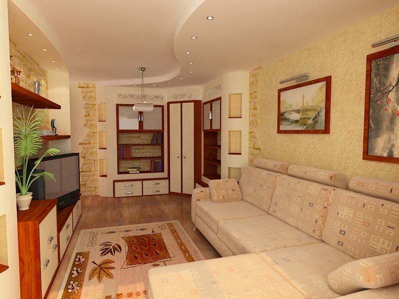Дизайн маленькой комнаты в двухкомнатной квартире фото.