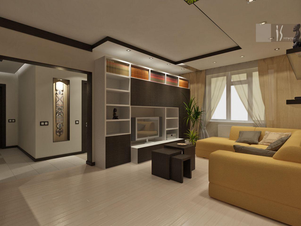 Дизайн проект квартир гостинная