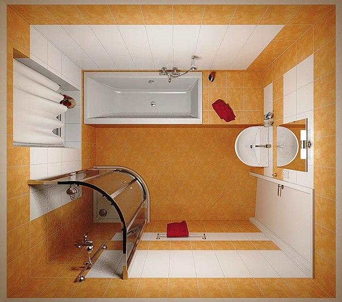 Дизайн ванной комнаты 3 квадратных метра