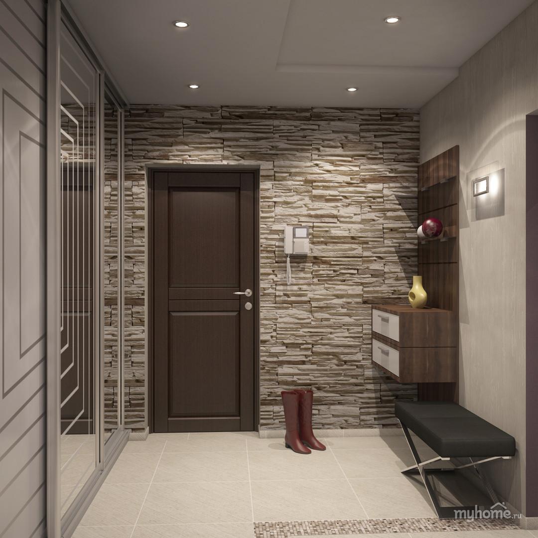 Дизайн большой квадратной прихожей в квартире