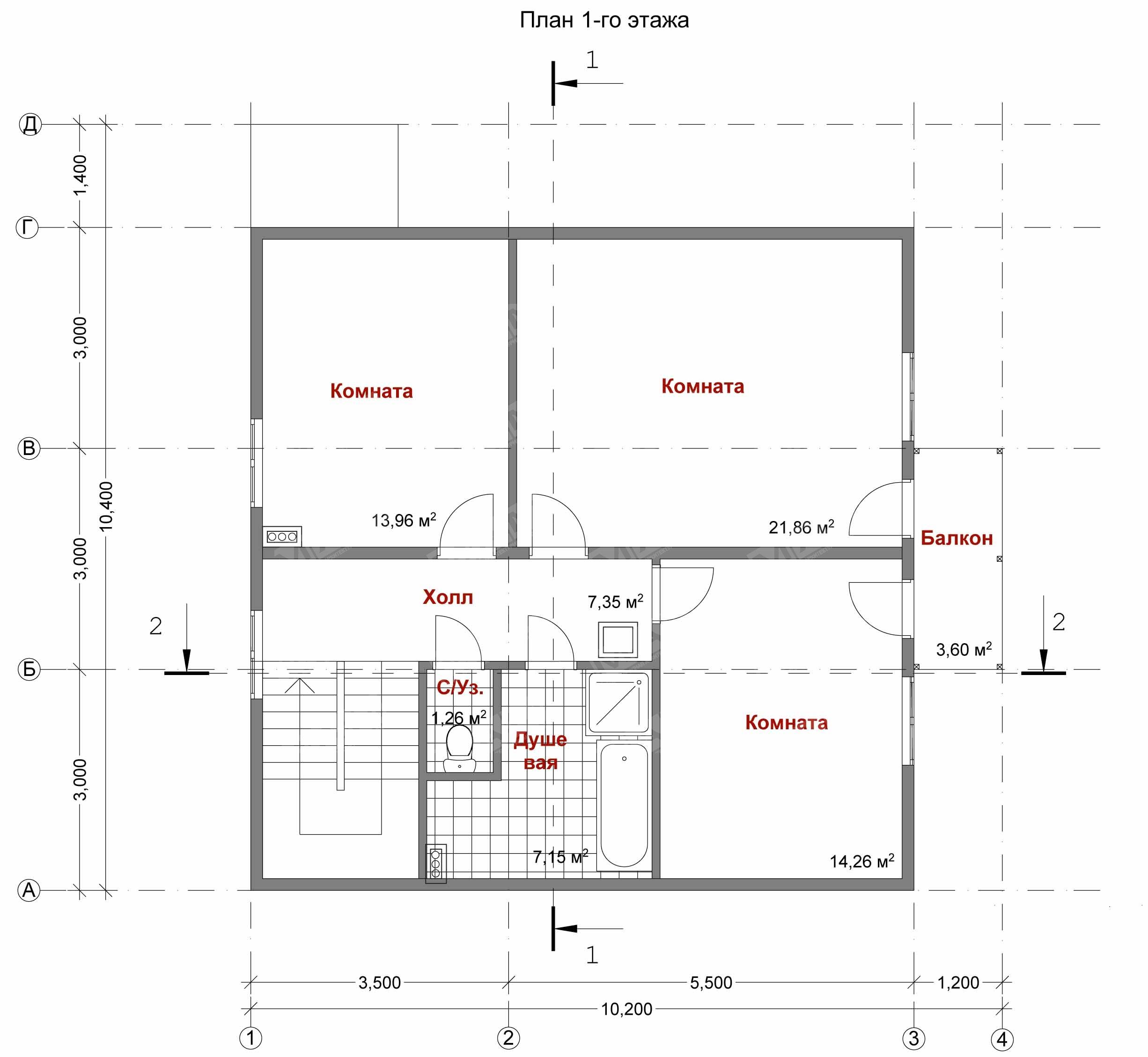 """Проекты домов планировка комнат """" современный дизайн."""