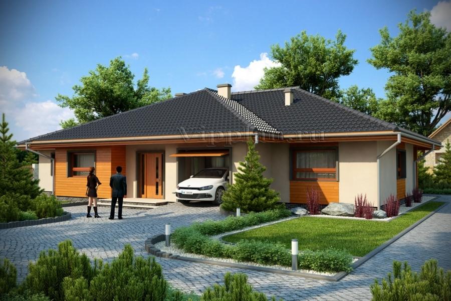 Проекты одноэтажных современных домов с фото
