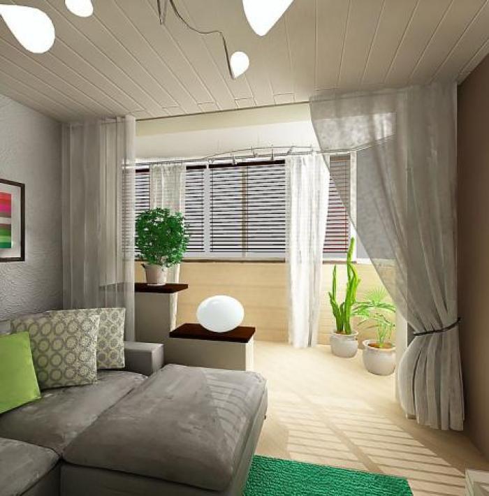 Дизайн комнаты и лоджии