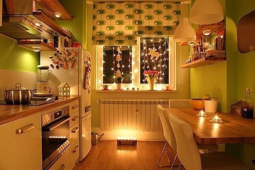Как сделать маленькую кухню уютной