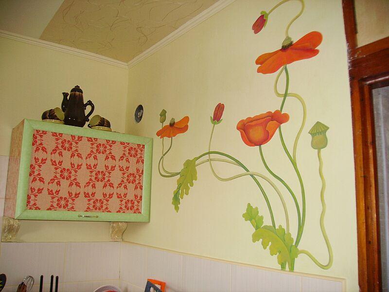 Роспись стен своими руками на кухне - Xaxatalka.ru