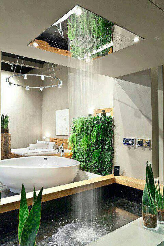 Тропический душ для ванной комнаты дизайн