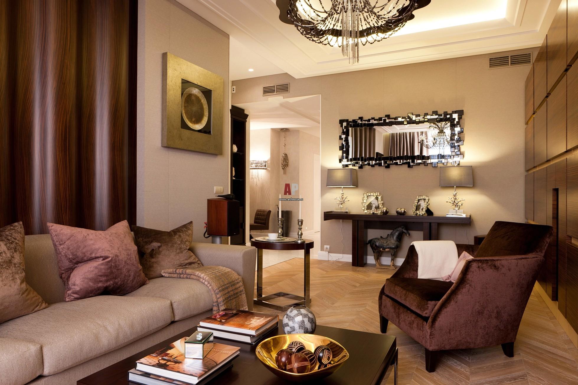 Американский стиль дизайн гостиной