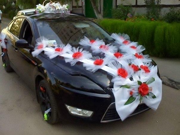 Ленты на машину свадебную своими руками