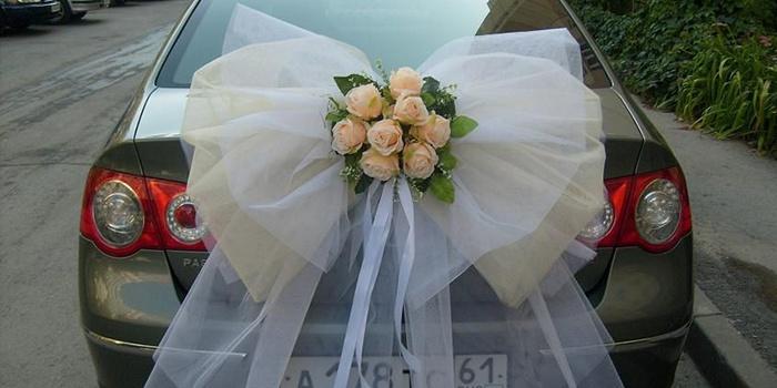 Свадебные банты на машину своими руками мастер класс