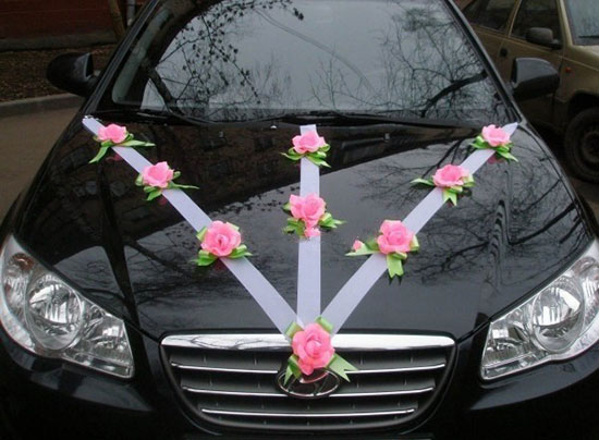 Украшение на свадебное авто своими руками