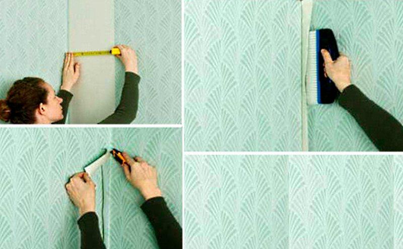 Как клеить обои виниловые рельефные на бумажной основе