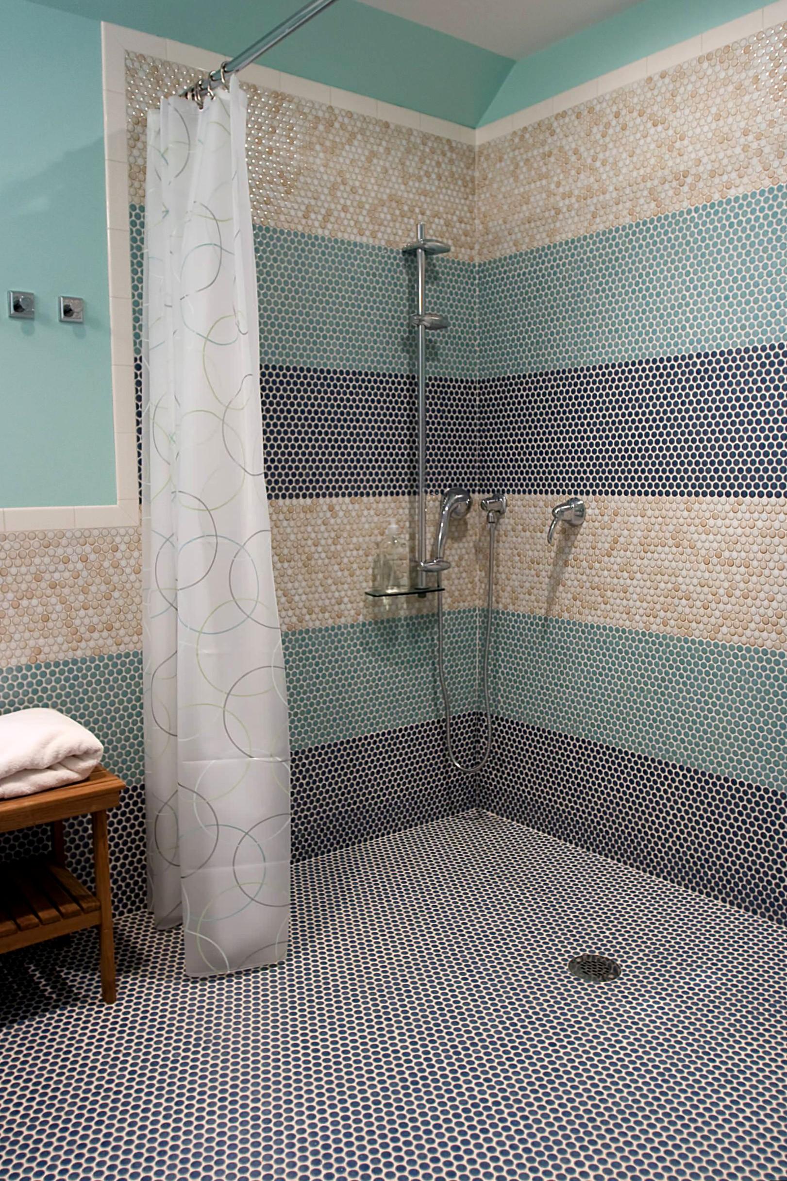 Душ в ванной комнаты дизайн