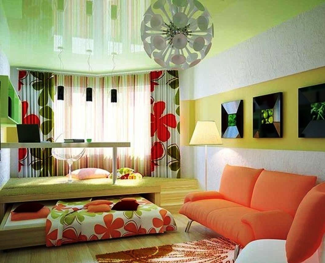 Как сделать спальню с гостиной в одной комнате