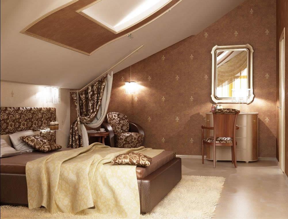 Спальни мансардные дизайн