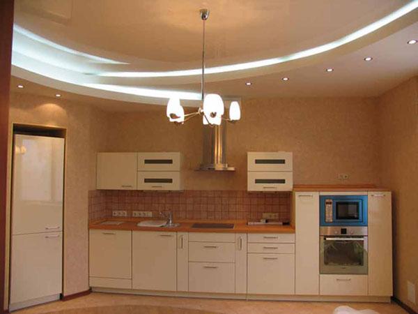 Потолки навесные для кухни дизайн