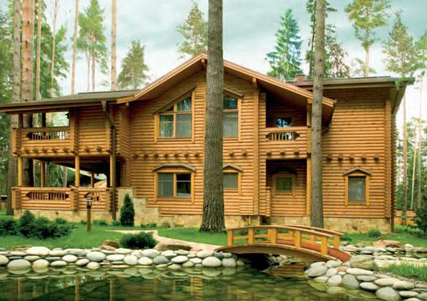 Построить дом из дерева украина