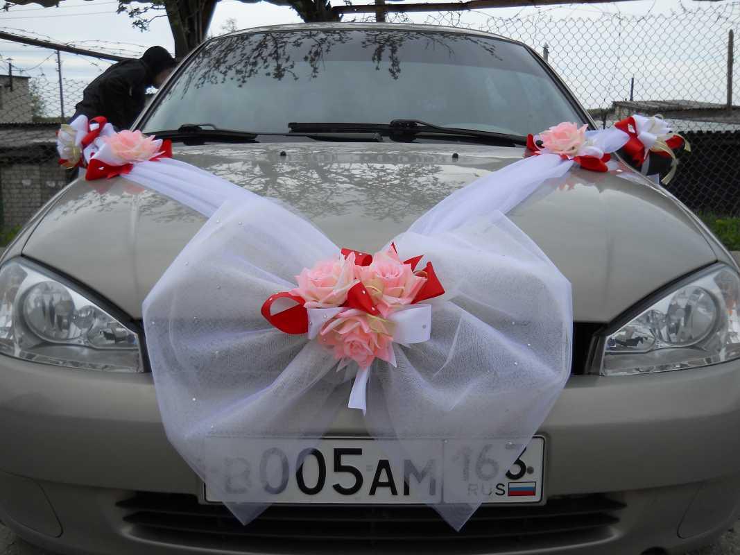 Свадебное украшение для машин пошагово