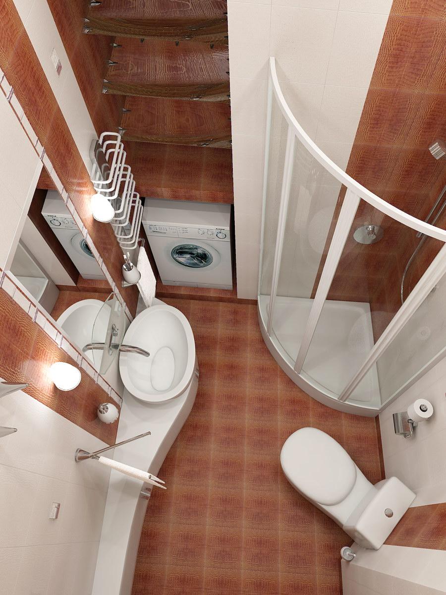 В небольших ванных комнат дизайн