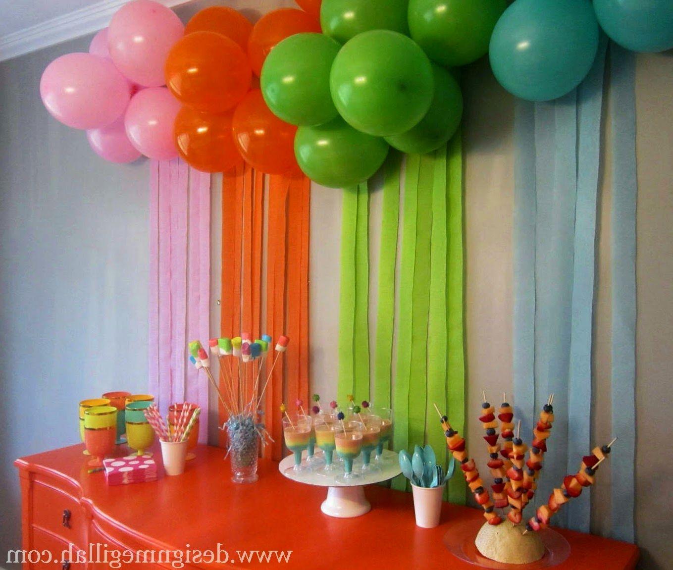 Second Home Decorating Ideas: Оформление детского праздника дома своими руками