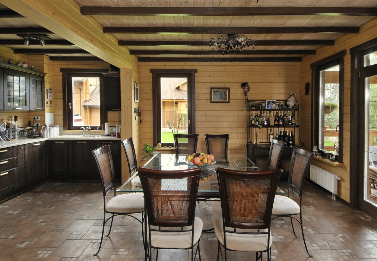 Фото деревянные дома интерьер
