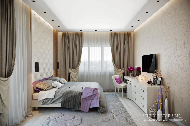 Спальня с балконом - интерьеры квартир, домов - myhome.ru.
