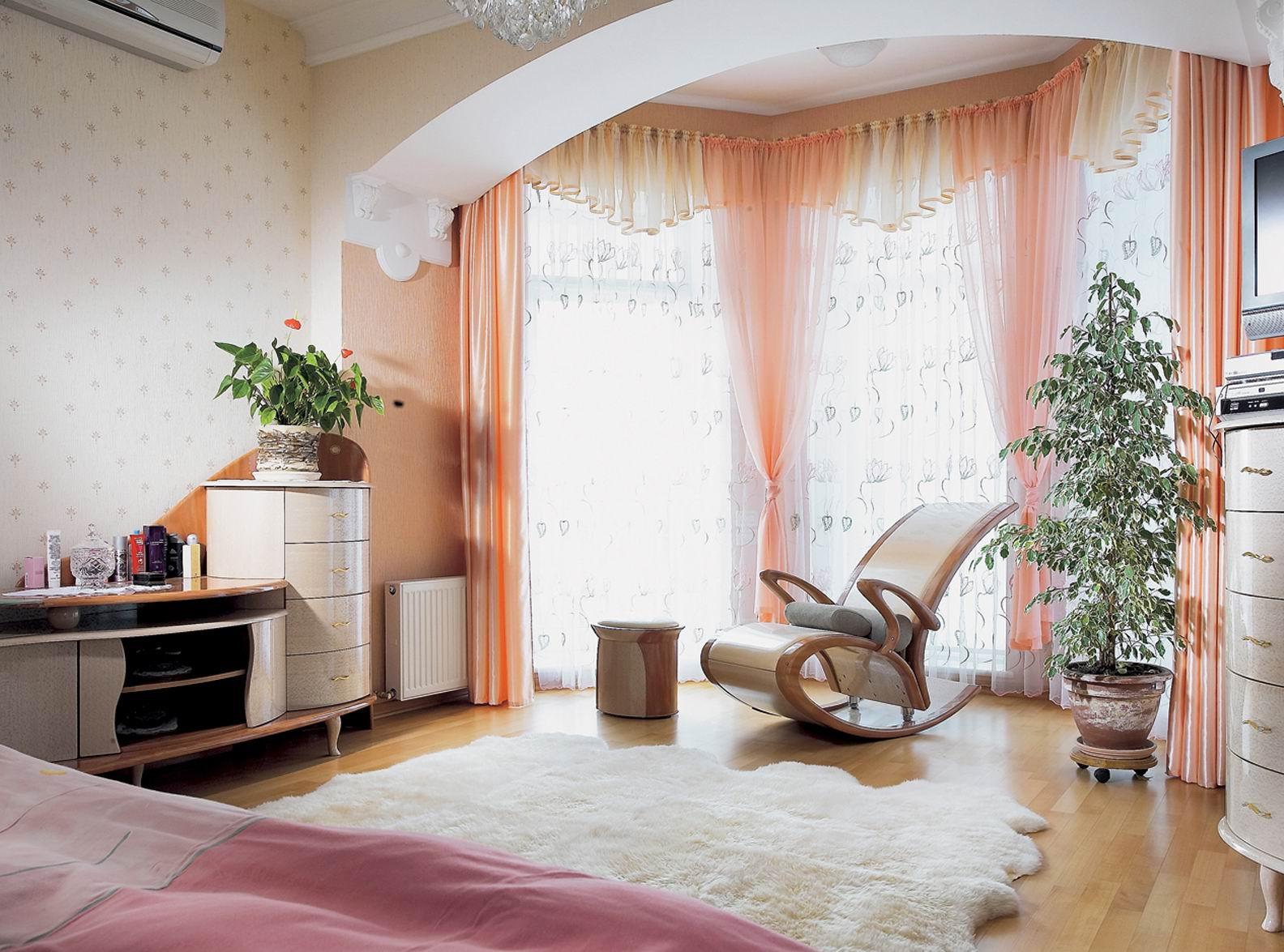 Спальни с эркером фото дизайн.