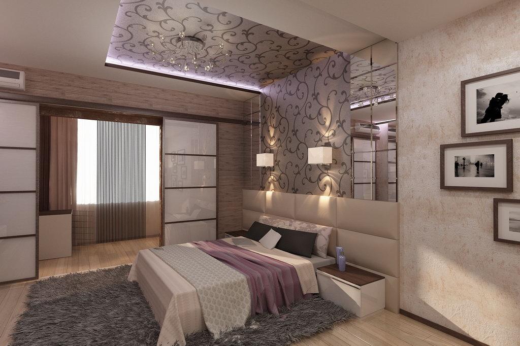 """Дизайн спален с балконом """" современный дизайн."""