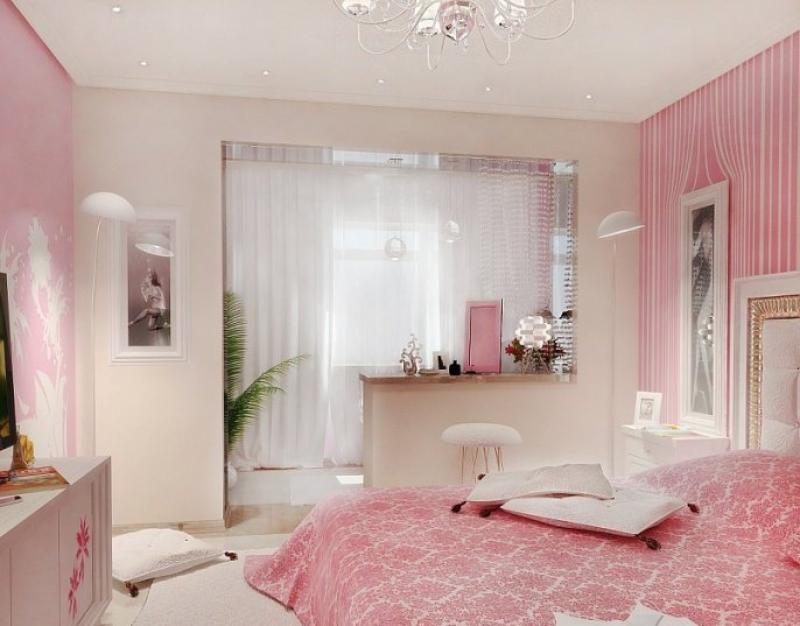 Дизайн маленькой спальни с балконом 10 кв.м