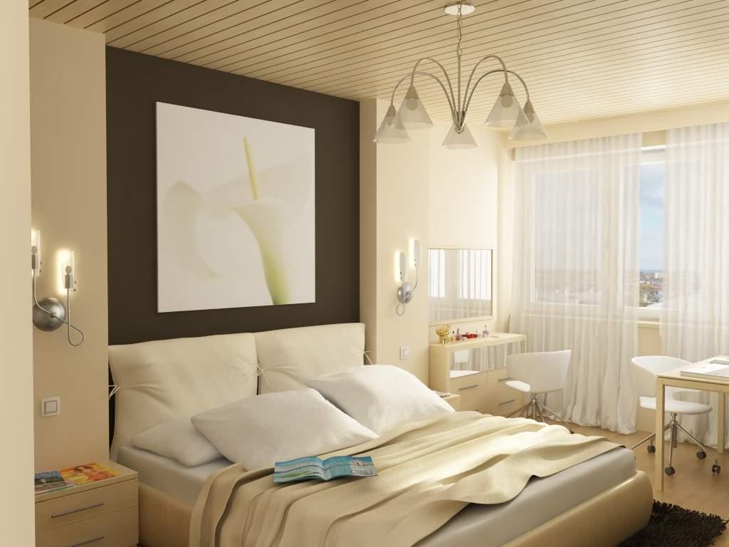 """Интерьер для спальни 10 кв.м """" современный дизайн."""