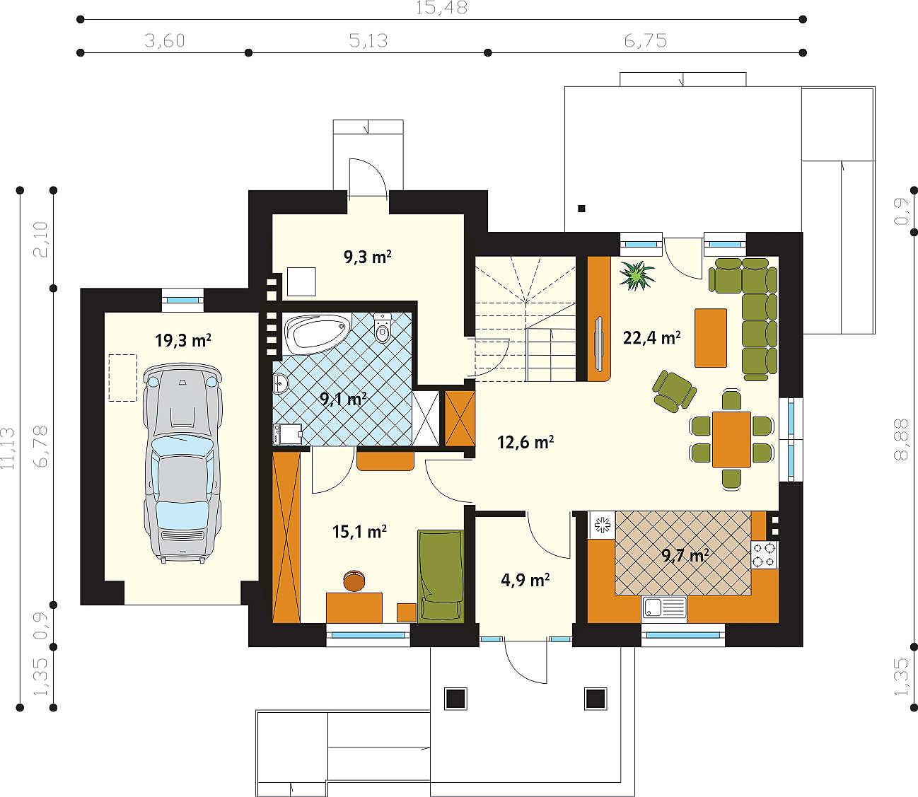 Как сделать планировку дома на 2 хозяина