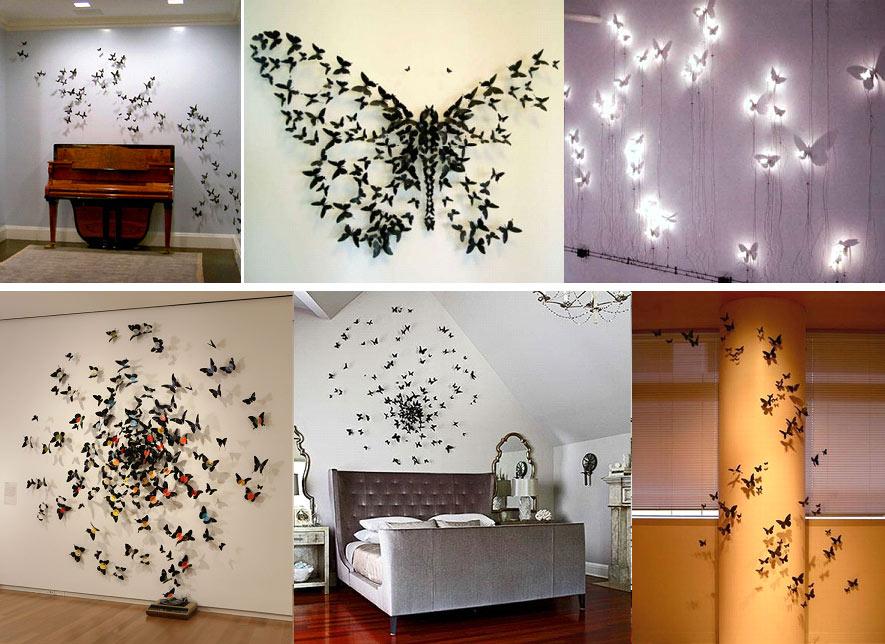 Бабочки для интерьера своими руками для интерьера