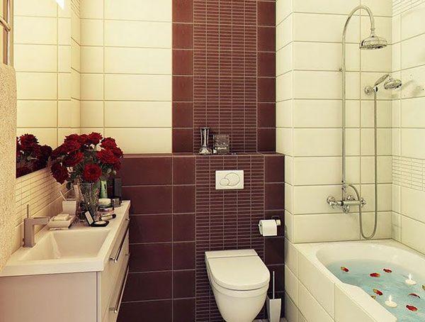 Отделка ванной комнаты плиткой дизайн в хрущевке