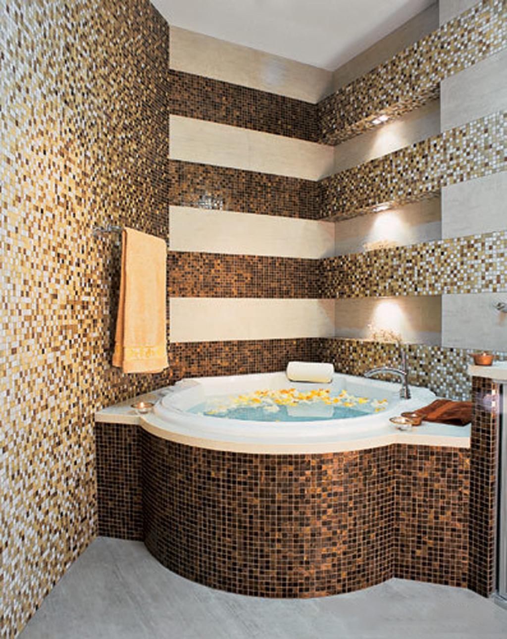 Мозаика в ванной дизайн ванной комнаты