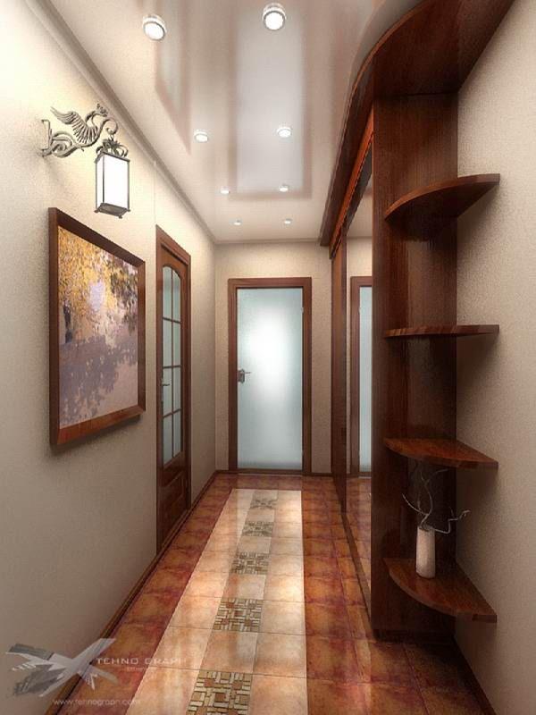 Ремонт узкого коридора в панельном доме