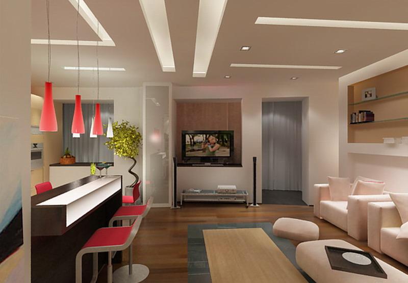 Фото идей ремонта совмещенной кухней и гостиной