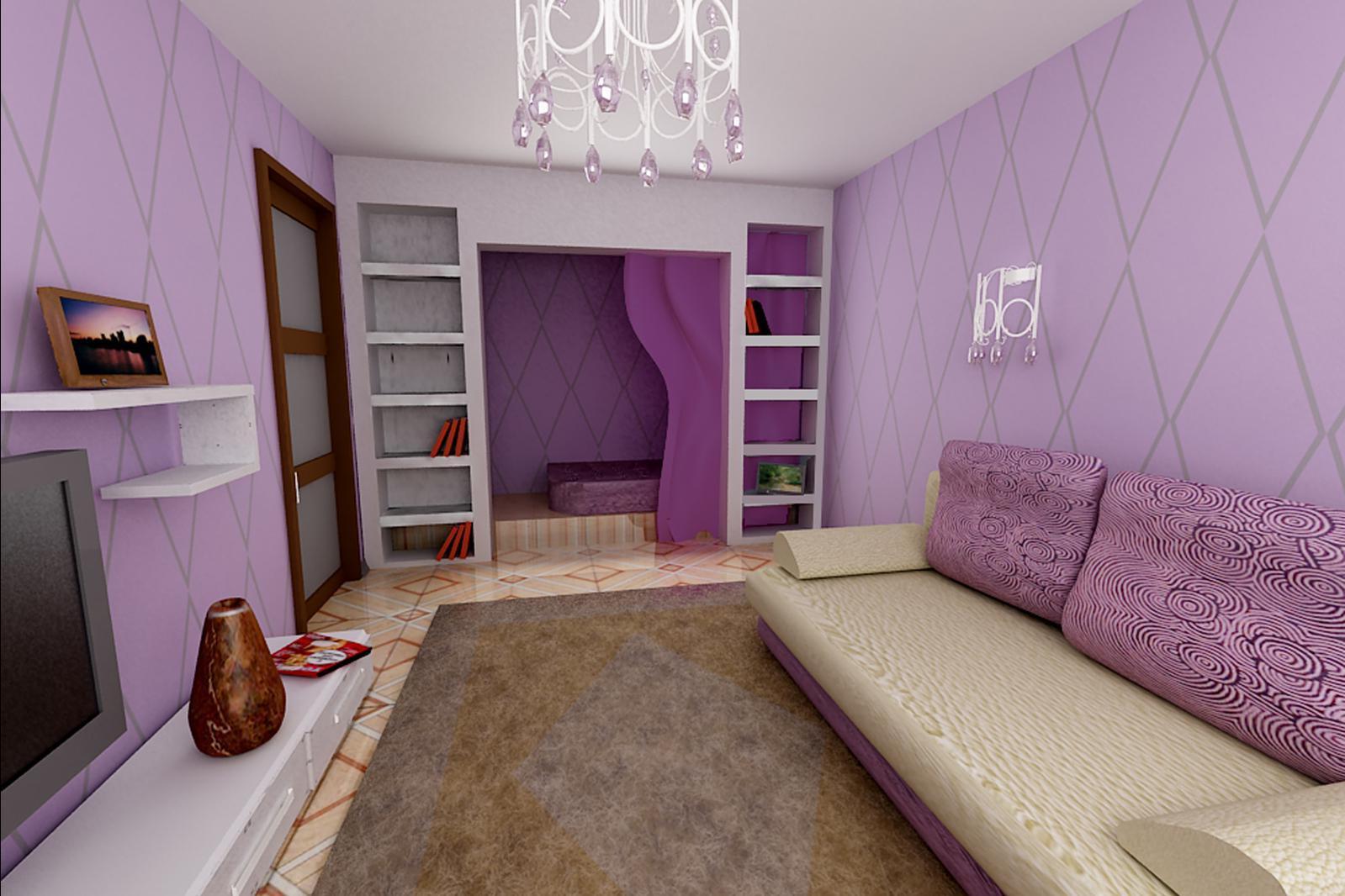 Дизайн зала-спальни в квартире