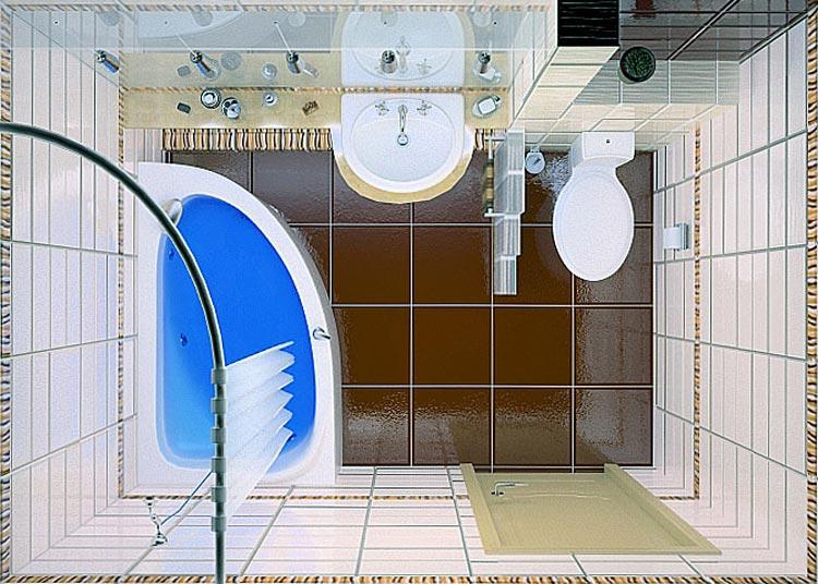 Дизайн ванной комнаты 5 кв м с туалетом и угловой ванной