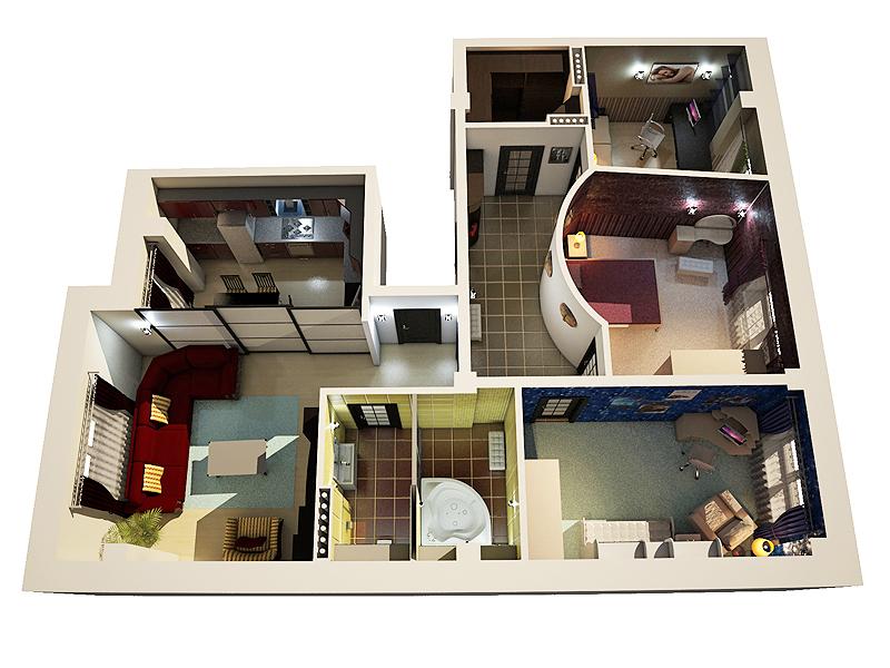 Дизайн квартир 4 х комнатных и