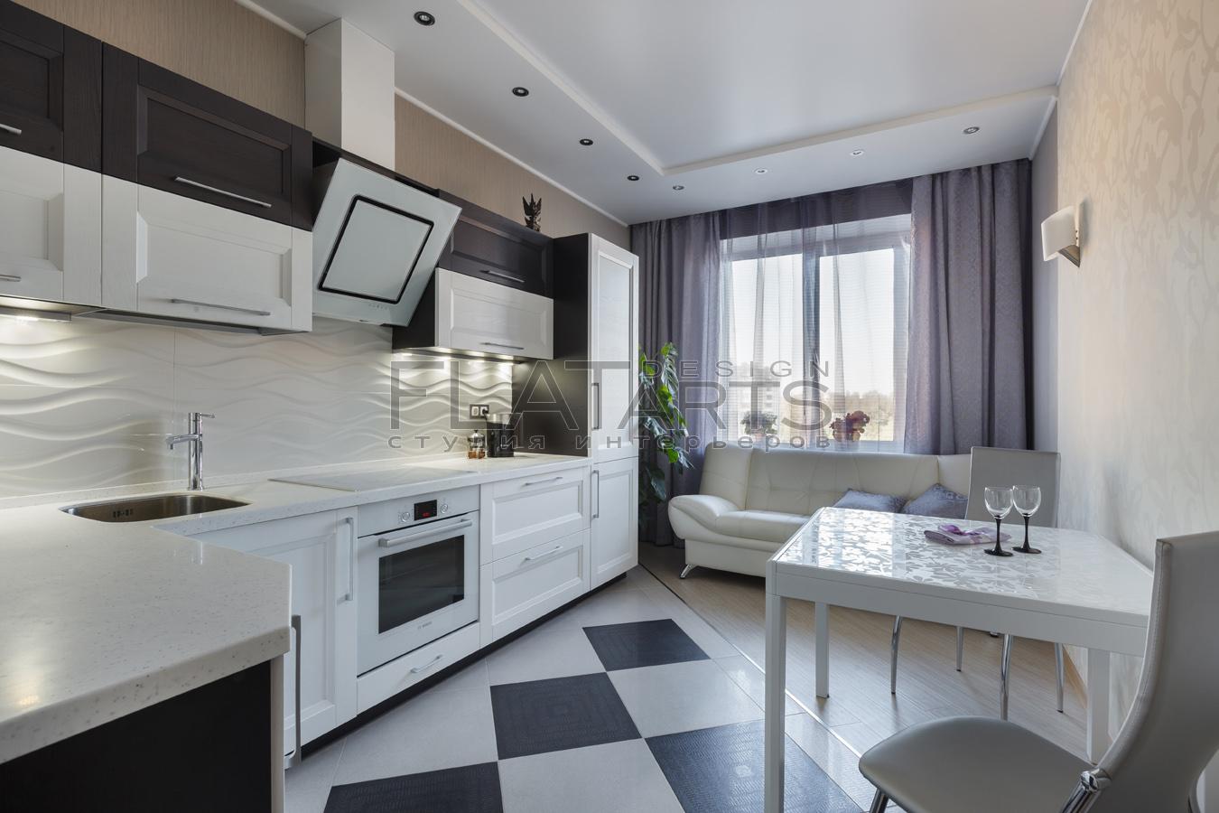 Дизайн интерьера кухни в двухкомнатной квартире: сталинки, б.